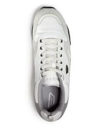 DIESEL | White Long Term E-dynagg Runner Sneakers for Men | Lyst