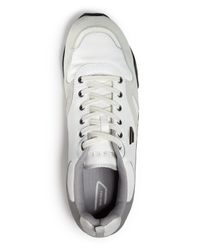 DIESEL - White Long Term E-dynagg Runner Sneakers for Men - Lyst