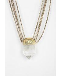 Spell & The Gypsy Collective | Metallic Prism Crystal Necklace | Lyst