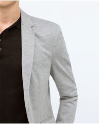 Zara | Gray Basic Blazer for Men | Lyst