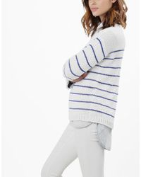 Wool And The Gang | Blue Stripe Love Sweater | Lyst