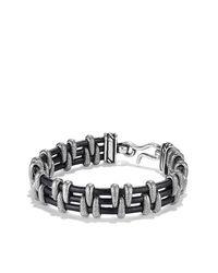 David Yurman - Black Cable Station Bracelet for Men - Lyst