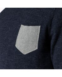 Tommy Hilfiger - Blue Wool Cotton Blend Crew Neck Sweater for Men - Lyst