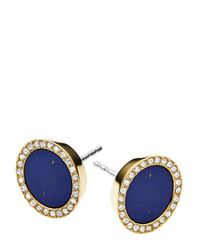 Michael Kors | Blue Circle Stud Earrings | Lyst
