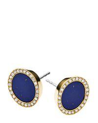 Michael Kors - Blue Circle Stud Earrings - Lyst