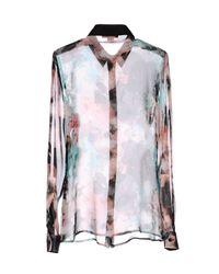 Versace Jeans   Pink Long Sleeve Shirt   Lyst