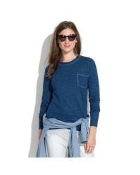 Madewell - Blue Long-sleeve Indigo Ink Tee - Lyst