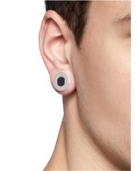 Givenchy - Metallic Circle Magnetic Earrings for Men - Lyst