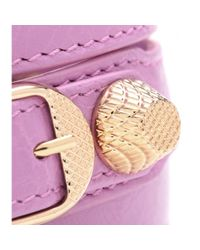 Balenciaga - Pink Giant Leather Bracelet - Lyst