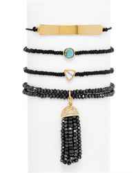BaubleBar | Black Onyx Bracelet Quad | Lyst