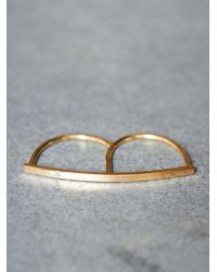 Free People | Metallic Sweet Diamond Double Ring | Lyst