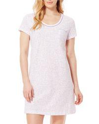 Carole Hochman   Purple Plus Short Sleeve Sleepshirt   Lyst