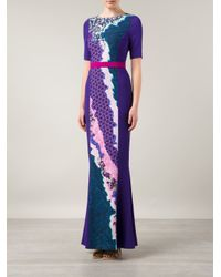 Peter Pilotto - Multicolor 'Vappor' Maxi Dress - Lyst