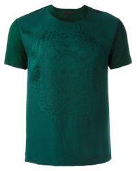 Alexander McQueen | Green Embroidered Skull T-shirt for Men | Lyst