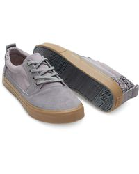 TOMS - Gray Frost Grey Suede/cotton Twill Men's Valdez for Men - Lyst