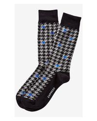 Express | Black Herringbone Color Pop Dress Socks for Men | Lyst