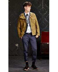 BOSS Orange | Natural 'ojohnny-w' | Cotton Blend Utility Jacket With Hood for Men | Lyst