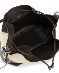 Proenza Schouler - White Leather & Snakeskin Bucket Bag - Lyst