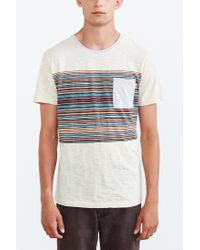 Vans | Natural Dunbar Stipe Pocket Tee for Men | Lyst