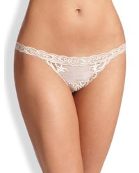 Natori Foundations | Natural Feathers Thong | Lyst
