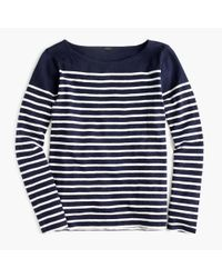J.Crew | Blue Placed-stripe T-shirt | Lyst