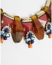 Mango | Blue Statement Jewel Necklace | Lyst