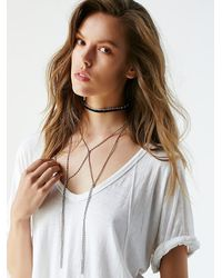 Free People | Metallic Womens Double Bolo Chain Choker | Lyst