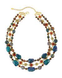 Jose & Maria Barrera | Multicolor Triple-strand Multi-stone Necklace | Lyst