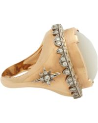 Sara Weinstock - Metallic Moonstone Diamond Ring - Lyst