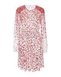 Giamba   Red Degrade Hearts Silk Georgette Dress   Lyst