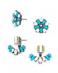 BaubleBar | Blue Cozumel Ear Jackets | Lyst