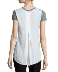 Tahari - Gray Slone Sweater With Draped Back - Lyst