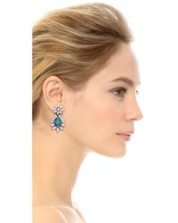 DANNIJO - Blue Lizabeth Earrings - Lyst