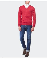 Vivienne Westwood - Red Orb V-Neck Sweater for Men - Lyst