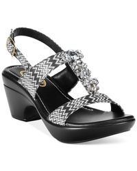 Callisto | Black Aster Embellished Dress Sandals | Lyst