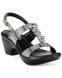 Callisto - Black Aster Embellished Dress Sandals - Lyst