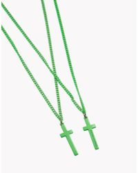 DSquared² | Green Jesus Necklace for Men | Lyst