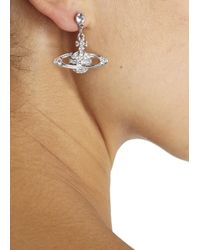 Vivienne Westwood | Metallic Grace Bas Relief Swarovski Orb Earrings | Lyst