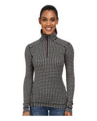 Smartwool Black Nts Mid 250 Pattern Zip Top
