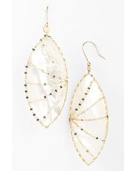 Lana Jewelry - Metallic 'riviera - Isabella' Drop Earrings - Mother Of Pearl/ Yellow Gold - Lyst