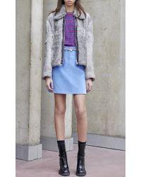 Carven - Blue Bicolor Striped Lurex Sweater - Lyst