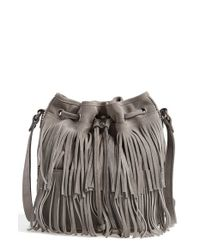 Patricia Nash | Gray 'Bronte' Fringe Bucket Bag | Lyst