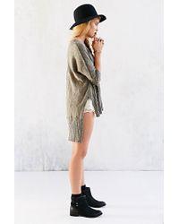 Mouchette - Green V-Neck High/Low Sweater - Lyst