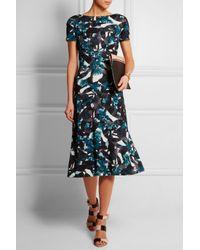 Erdem - Blue Vanya Printed Stretch-ponte Midi Dress - Lyst