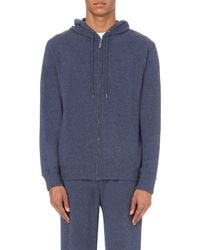 Derek Rose | Blue Finley Cashmere Hoody for Men | Lyst