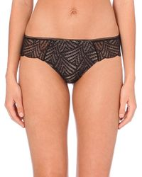 Chantelle - Natural Illusion Stretch-lace Tanga Briefs - Lyst