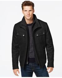 Michael Kors | Black Michael Brockton Wool-blend Jacket for Men | Lyst