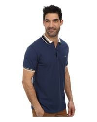 Lacoste | Blue Slim Fit Pique Polo With Neo-piping for Men | Lyst