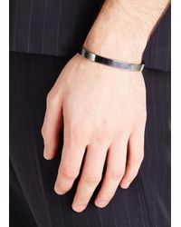 All_blues | Metallic Oxidised Sterling Silver Bangle for Men | Lyst