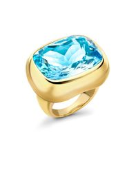 Kiki McDonough - Blue-Topaz & Yellow-Gold Ring - Lyst